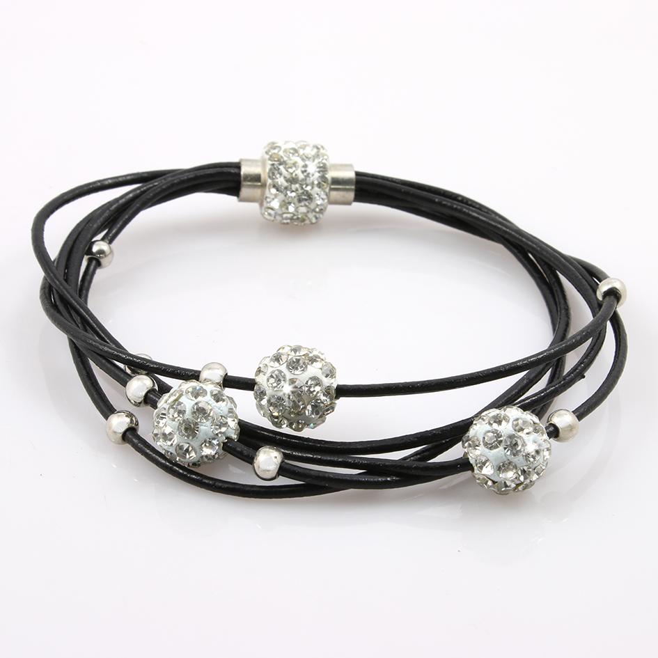 Fashion Icon Náramek kuličky s krystalky a kovovými korálky… f5301264c4