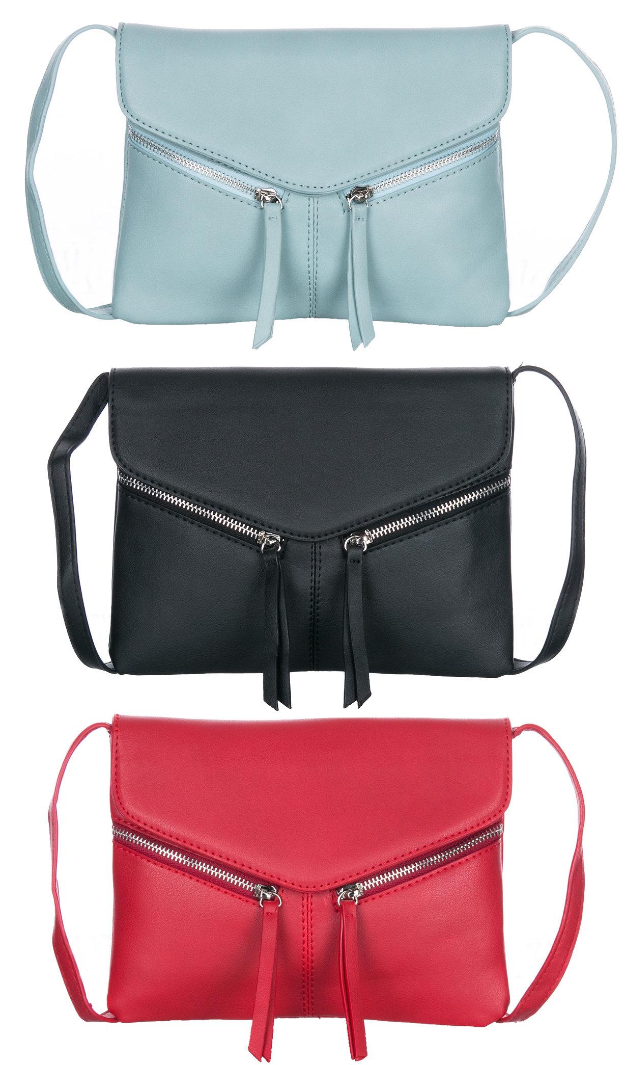 Fashion Icon Dámská kabelka - psaníčko crossbody s zipy 4b5a72e1ef4