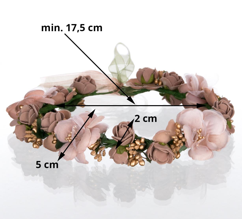 Čelenka do vlasů - květinový věneček CV0063  9ef930e8da