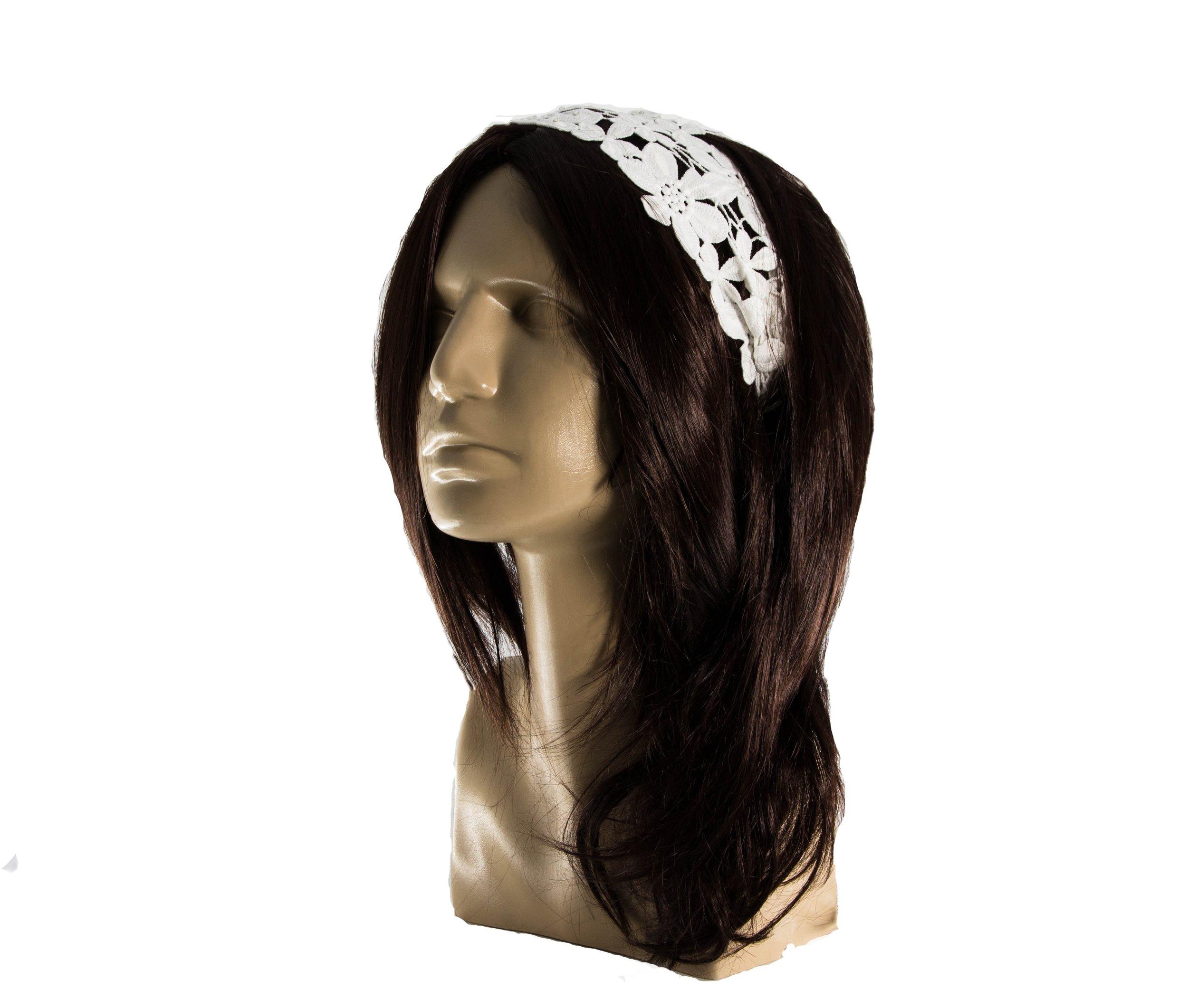 Čelenka do vlasů krajková pružná CV0065  6d5be3821b