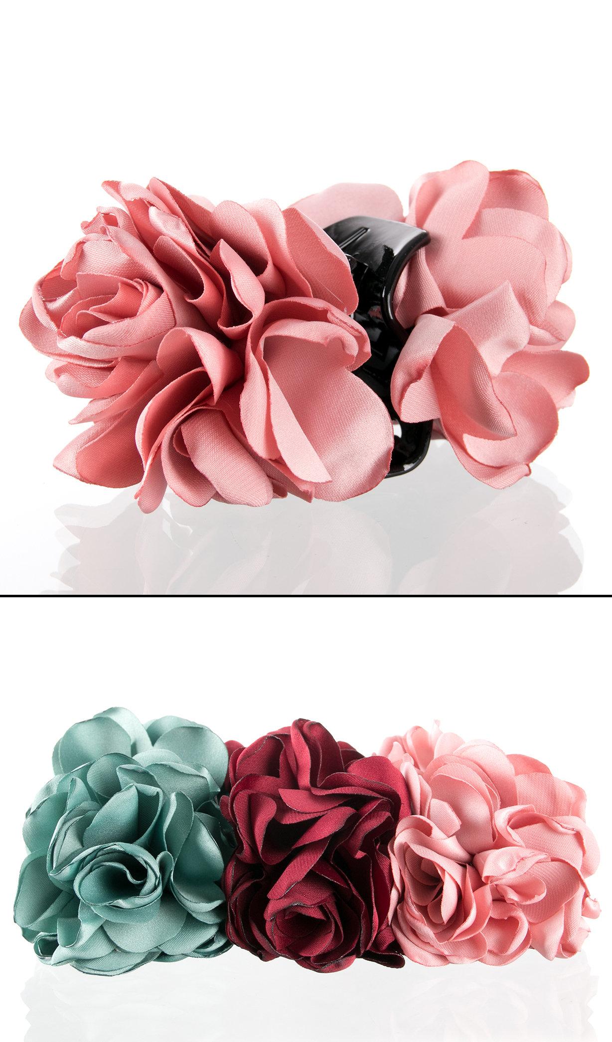 Fashion Icon Skřipec do vlasů kytka textilní růže VS0023  2c90f0a5ab