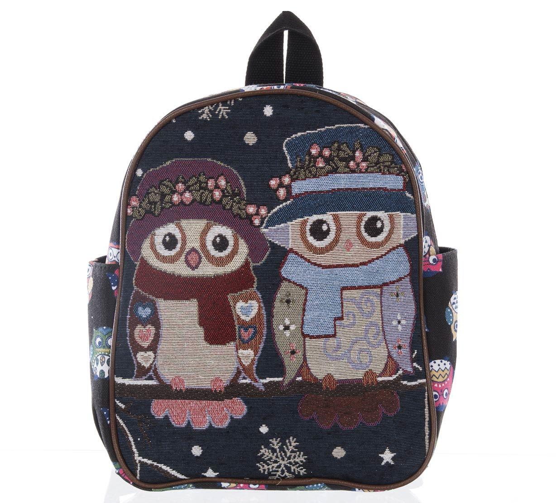 Fashion Icon Dámský batoh Winter sovy lněný ef5afd0208