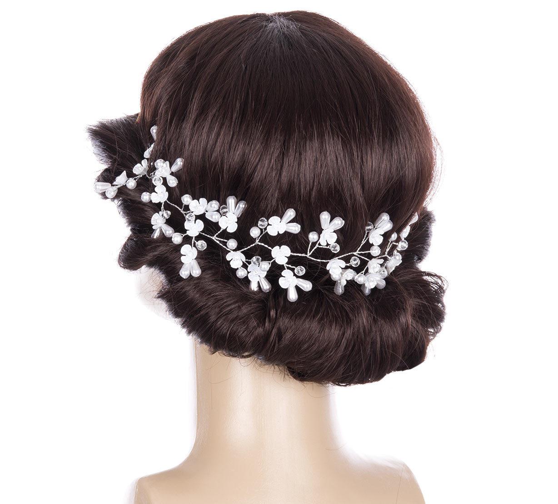 Fashion Icon Svatební ozdoba do vlasů - čelenka Wedding day… afe11fa1af