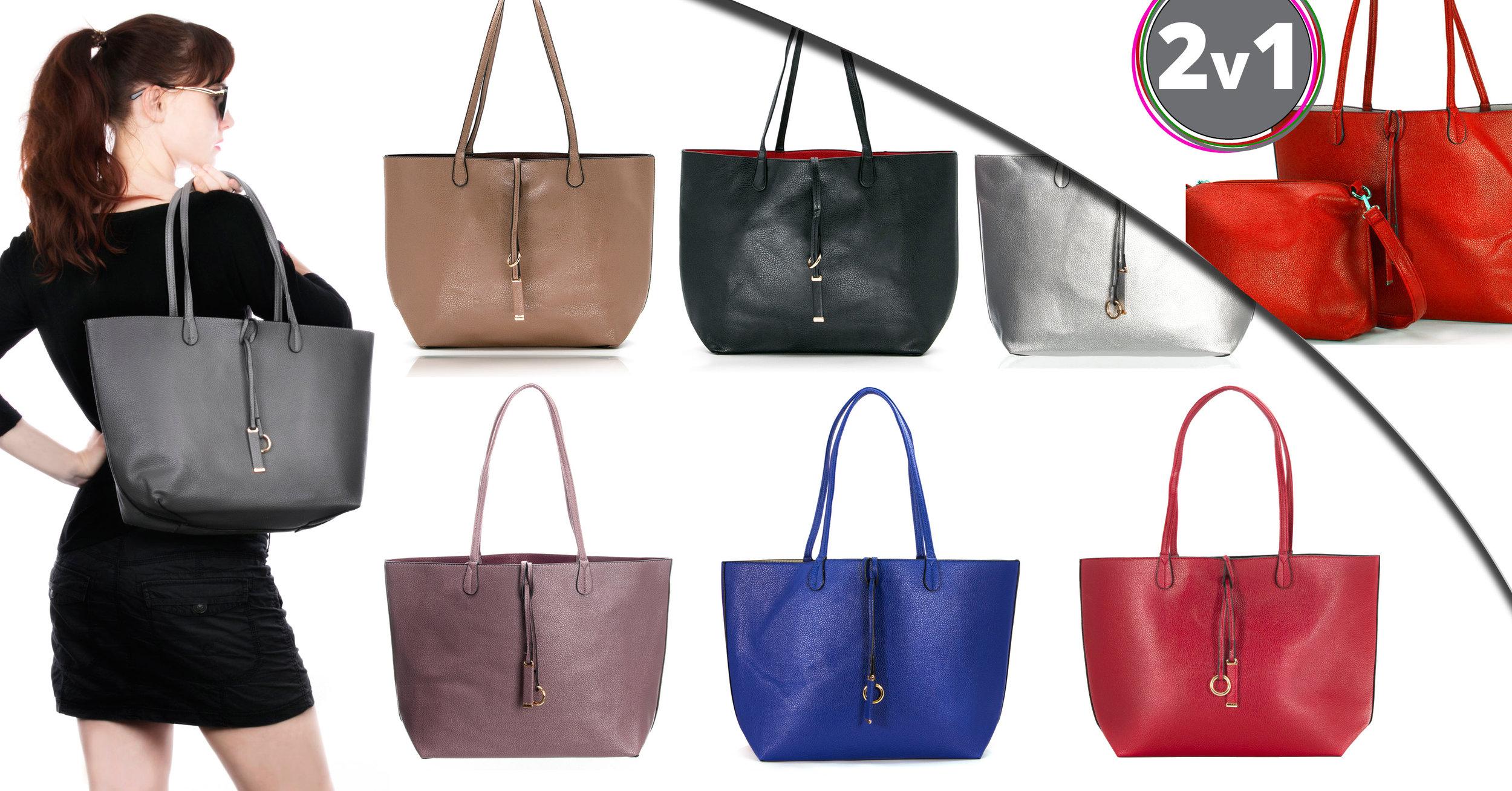 ... Fashion Icon Dámská kabelka Simple Style 2v1 přes rameno i crossbody ... 78523b33de2