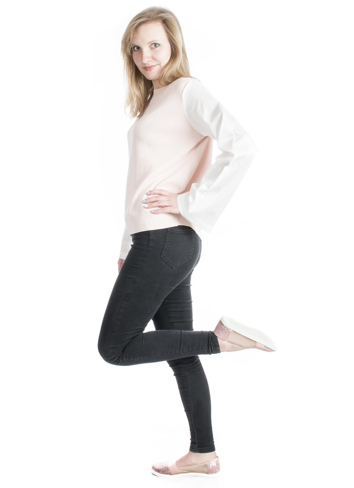 Beauty Women Pulovr s košilovou imitací CX0007  e5e795e3ee